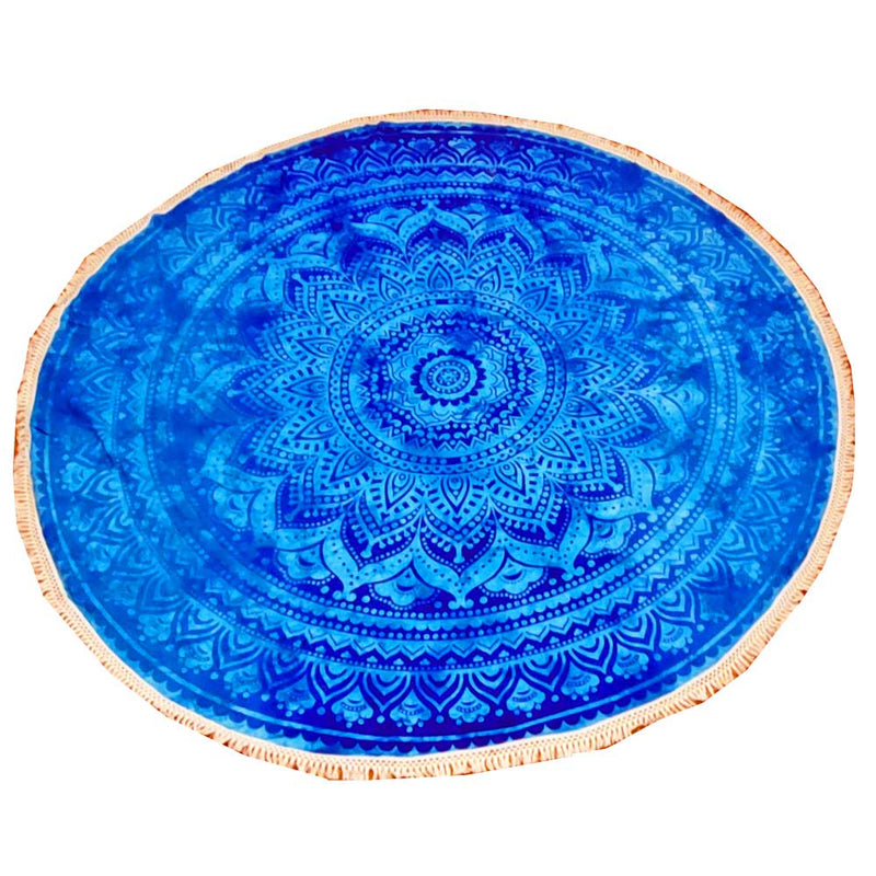 Blue Ombre Round Star Mandala Tapestry Wall Art | Wild Lotus® | @wildlotusbrand