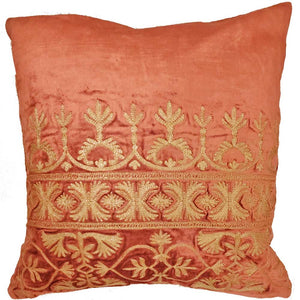 Cotton Viscose Velvet Blend Fabric Cushion Cover Design Home Accent Furnishing - 16 x 16 | @wildlotusbrand | Wild Lotus®