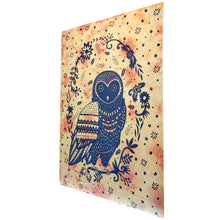 Load image into Gallery viewer, Trippy Owl Tapestry Wall Hanging | Wild Lotus® | @wildlotusbrand