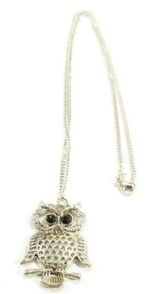 Base Metal Cutie Hooty Owl Necklace