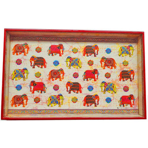 Royal Tuskers Festival Elephants Laminated Wood Tray
