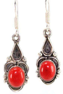 Vibrant Red Drop Earrings