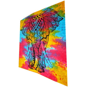 Indian Bohemian Elephant Tapestry Full Size Psychedelic Wall Hanging Decoration