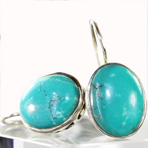 Eloquent Turquoise Cabochon Hook Earrings | Wild Lotus® | @wildlotusbrand