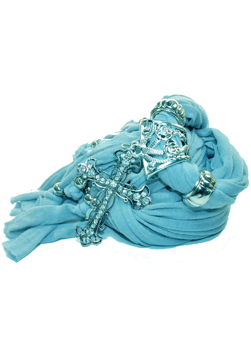 Everyday Turquoise Cross Pendant Scarf | Wild Lotus® | @wildlotusbrand