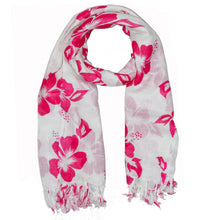 Load image into Gallery viewer, Pink Floral Pattern Pareo Beach Hawaiian Sarong Scarf