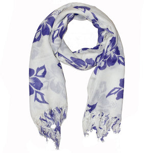 Purple Floral Pattern Pareo Beach Hawaiian Sarong Scarf | Wild Lotus® | @wildlotusbrand