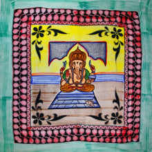 Load image into Gallery viewer, Ganesha Blessings In Pastels With Tassels Tapestry