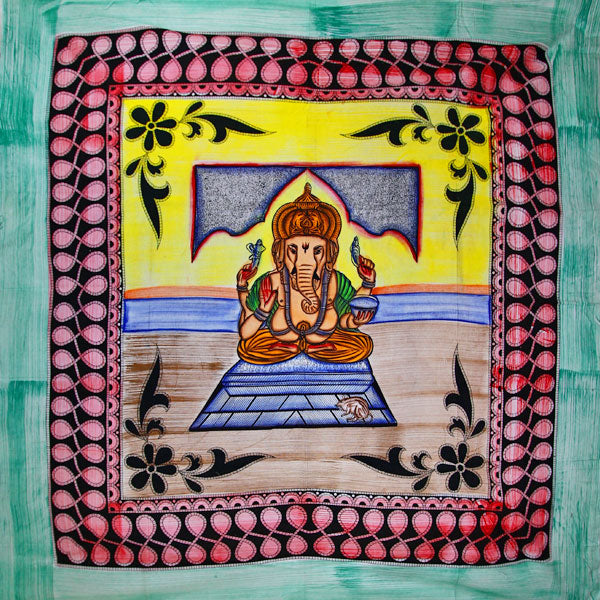 Ganesha Blessings In Pastels With Tassels Tapestry