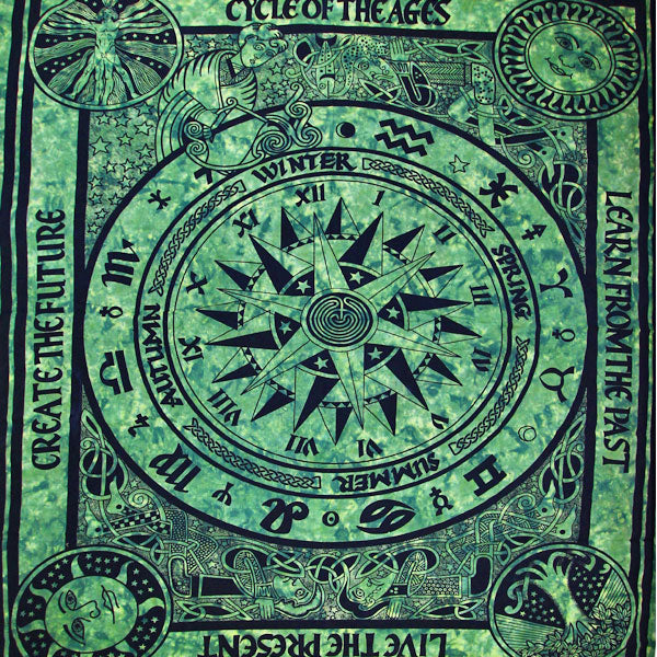 Green Cycle Of The Ages Tapestry