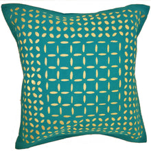 Load image into Gallery viewer, Green Indian Cushion Cover Everyday Home Accent Furnishing - 16 x 16 | @wildlotusbrand | Wild Lotus®