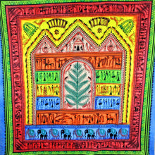Load image into Gallery viewer, Harmonious Tribal Village Tapestry