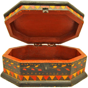 Saffron Sun Wooden Storage Box