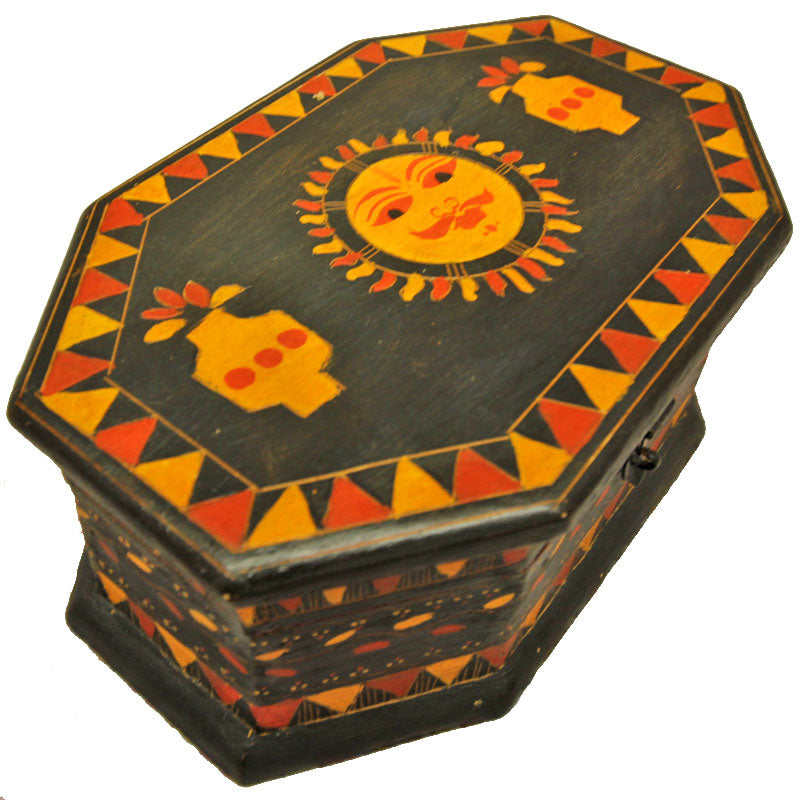 Saffron Sun Wooden Storage Box | Handicrafts | Wild Lotus