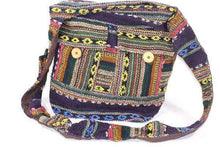 Load image into Gallery viewer, IKAT Durrie Sling Jhola Bag Summer Solstice