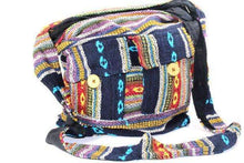 Load image into Gallery viewer, IKAT Durrie Sling Jhola Bag Summer Solstice | Wild Lotus