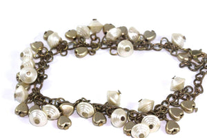 Golden Hearts & Shells Charm Bracelet