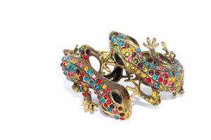 Multi Color Sparkling Salamander Hinged Bangle
