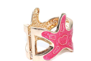 Pink Starfish Glitz Bangle | Wild Lotus