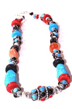 Load image into Gallery viewer, Eastern Flare Resin Beads & Charms Necklace
