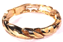 Load image into Gallery viewer, Sparkly Brown & Gold Tone Shimmering Enamel Hinged Bangle