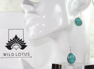 Eloquent Turquoise Cabochon Hook Earrings