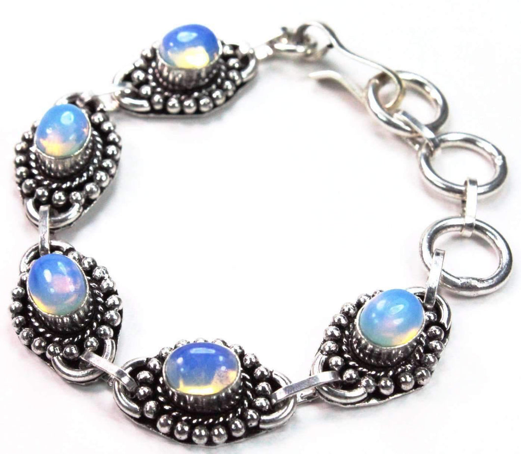 Aqua Blue Glass Bracelet