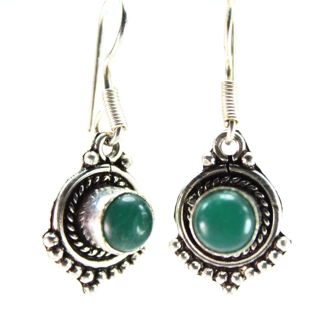 Vivid Green Point Earrings