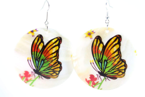 Basking Butterfly Mother Of Pearl Earrings
