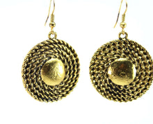 Load image into Gallery viewer, Rope Medallion Earrings