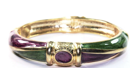 Purple & Green Wild One Hinged Bangle