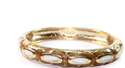 Caramel Candy Hinged Bangle