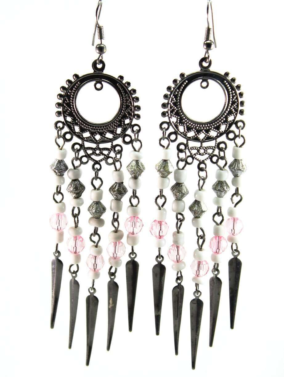 Pretty in Pink Chandelier Earrings