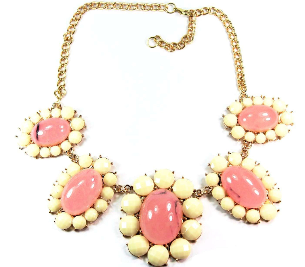 Pink Pastel Spring Flower Necklace