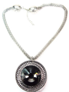 Onyx Queens Medallion Necklace