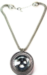 Diamond White Queens Medallion Necklace