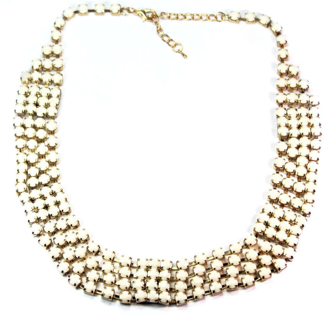 Gold Tone Utopia Statement Necklace