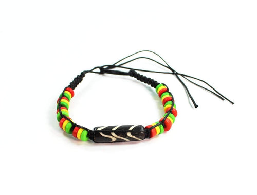Chevron Pattern & Rasta Vibes Friendship Bracelet