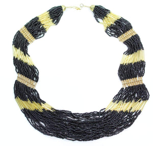 Black Mamba Layered Beads Necklace
