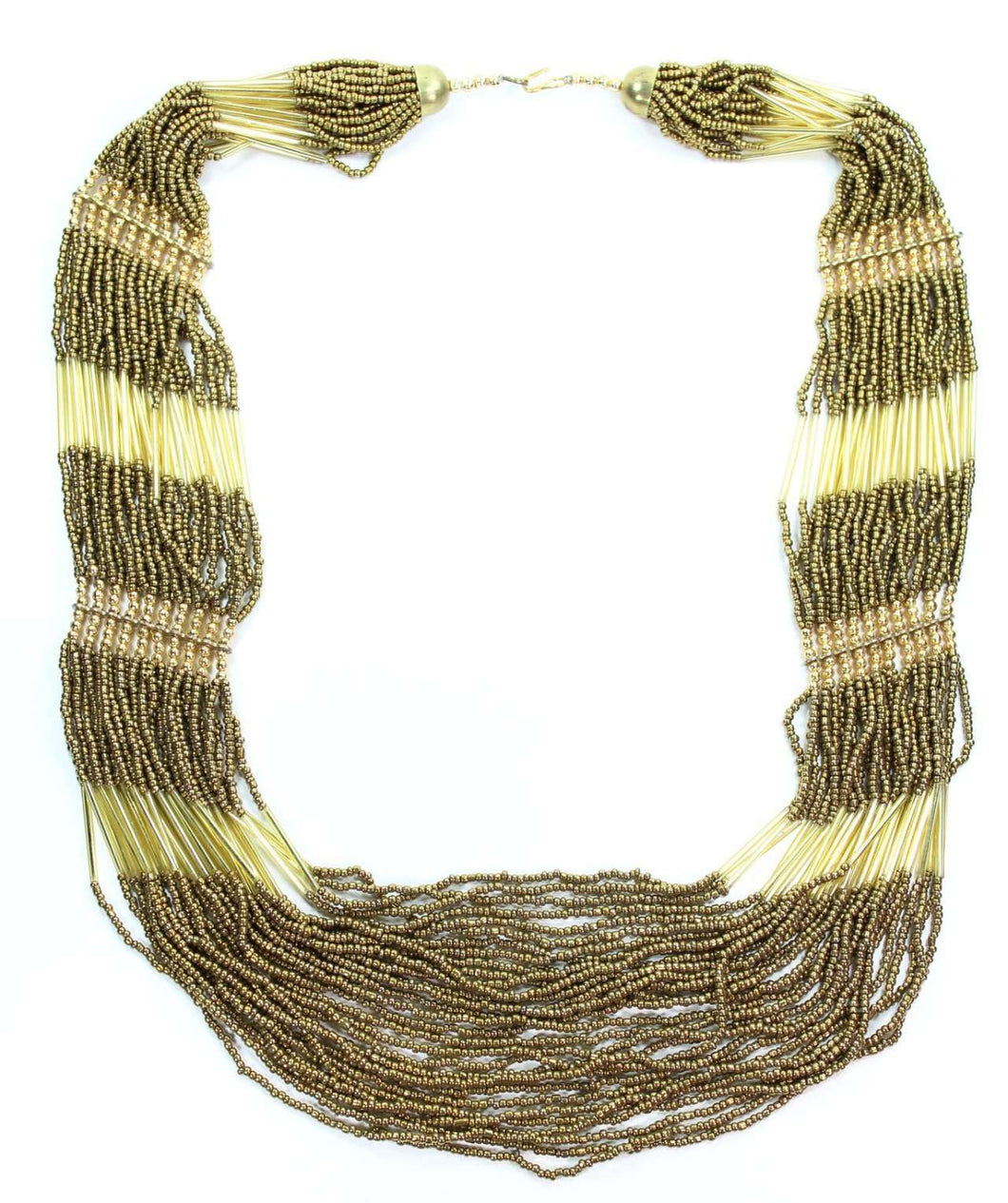 Brown & Gold Tone Sahara Soul Layered Necklace