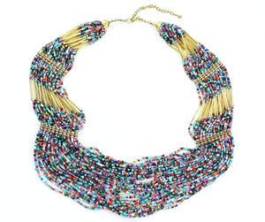 Island Paradise Layered Beads Necklace