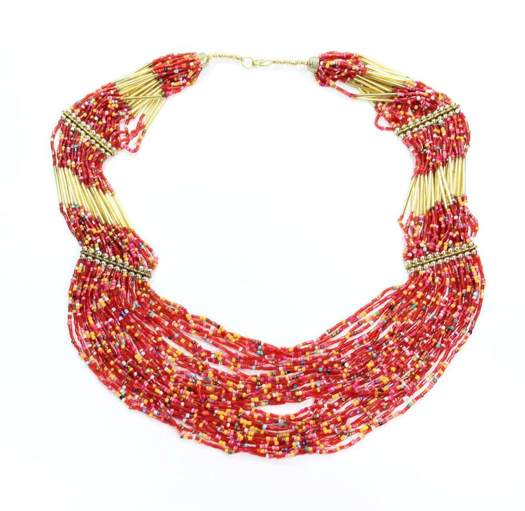 Gold Tone Santa Fe Summer Layer Necklace