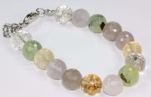 Multi Color Rainy Day Quartz Stone Bracelet