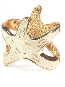 Sandy Starfish Glitz Bangle