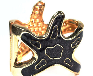 Onyx Starfish Glitz Bangle
