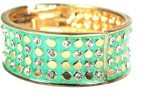 Green Polka Dot Bling Bangle