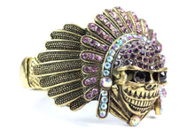 Load image into Gallery viewer, Magenta Native Indian Chief Bangle