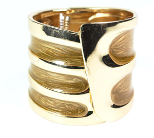 Caramel Twinkling Enamel Hinged Bangle