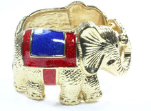 Load image into Gallery viewer, Unified Elephants Brass Bangle