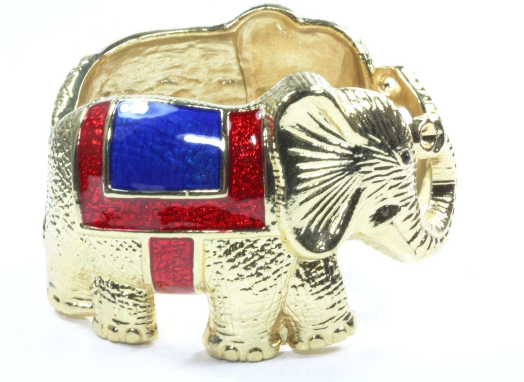 Unified Elephants Brass Bangle